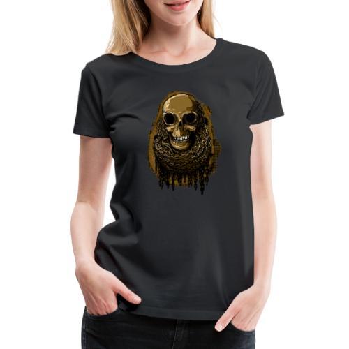 Skull in Chains YeOllo - Women's Premium T-Shirt