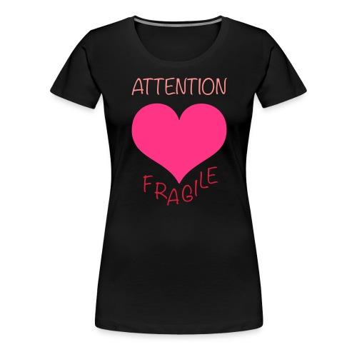 coeur fragile - T-shirt Premium Femme