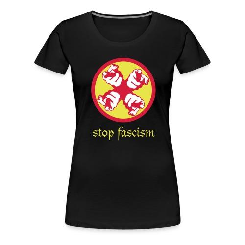 stop fascism svg - Naisten premium t-paita