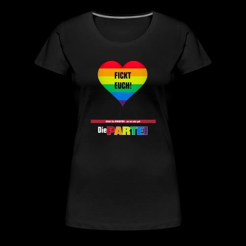 Fickt-Euch (on Black) - Frauen Premium T-Shirt
