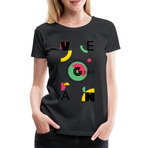 Abstract Vegan - Women's Premium T-Shirt