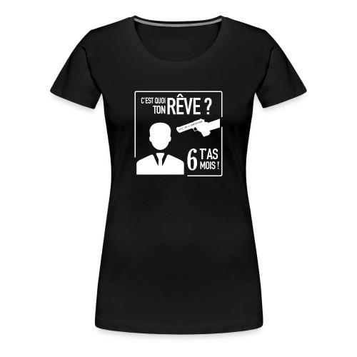 Adpote Russe blanc - T-shirt Premium Femme