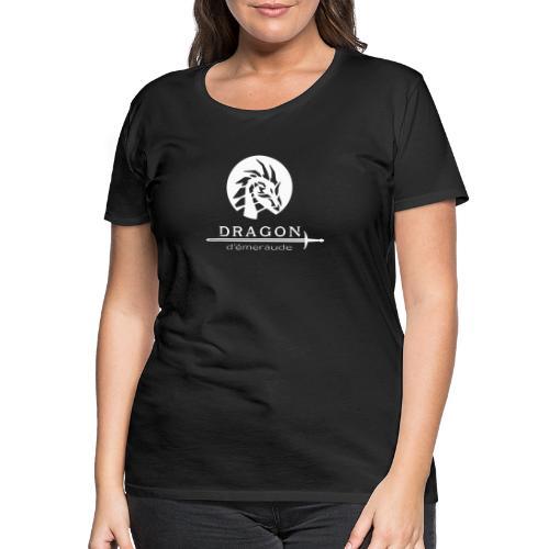 dragon d'émeraude blanc - T-shirt Premium Femme