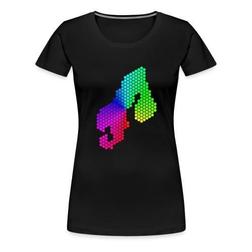 Nordatlas logotyp - Premium-T-shirt dam