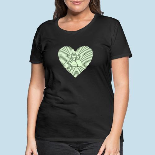 Katzen Spirale Herz - Frauen Premium T-Shirt