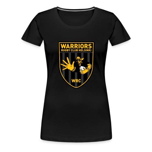 Iso logo tekstillä - Naisten premium t-paita
