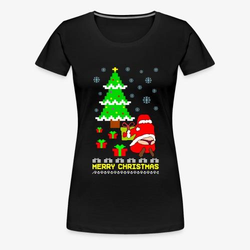 Merry Christmas Santa Tanga Ugly Xmas - Frauen Premium T-Shirt