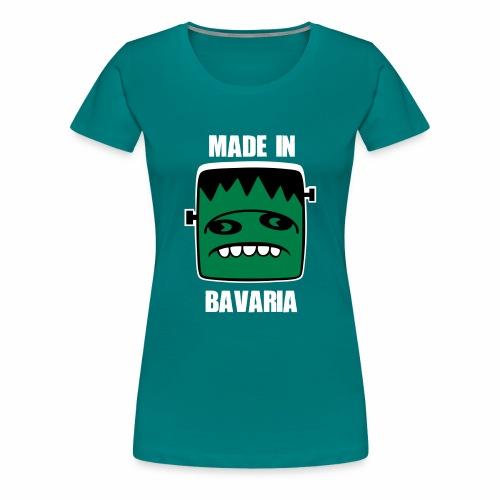 Fonster weiß made in Bavaria - Frauen Premium T-Shirt