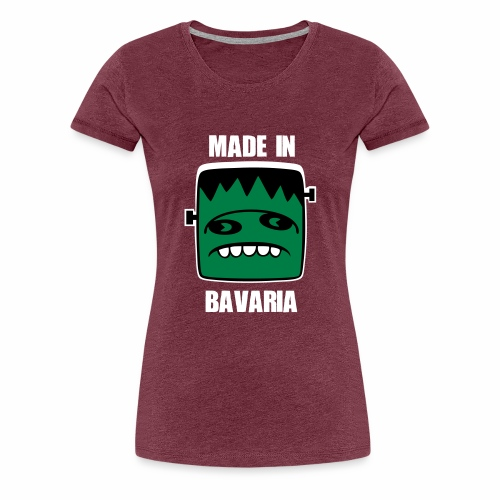 Fonster weiß made in Bavaria - Frauen Premium T-Shirt