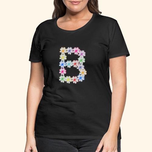 Buchstabe B aus Blumen, floral, Kosmee Blüten - Frauen Premium T-Shirt