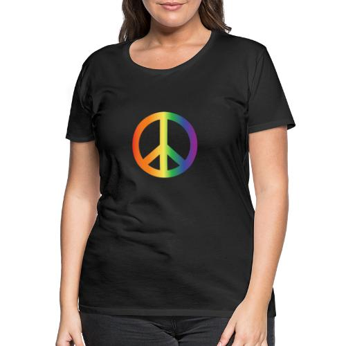 Pride Peace Gradient - Women's Premium T-Shirt