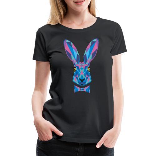 Hase Fliege Feldhase Langohr bunt Kaninchen Löffel - Frauen Premium T-Shirt