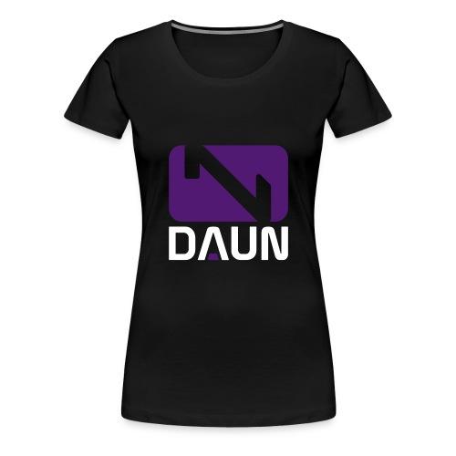 daun logo hochkant - Frauen Premium T-Shirt