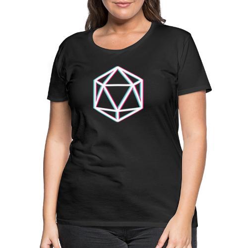3D D20 weiß - Women's Premium T-Shirt
