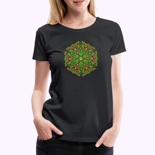 Fire Lotus Mandala - Dame premium T-shirt