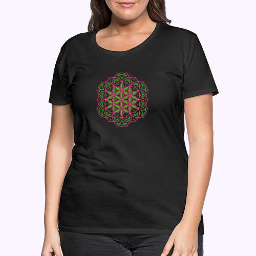 Flor 0f vida 3 - Camiseta premium mujer