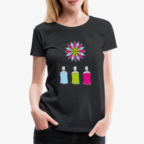 SOLRAC Spray of colors - Camiseta premium mujer