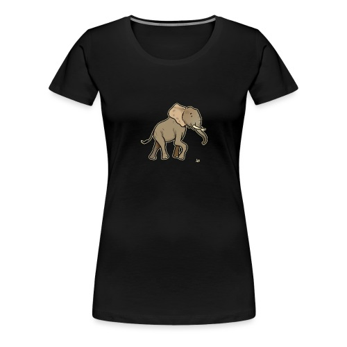 African Elephant (black edition) - Women's Premium T-Shirt
