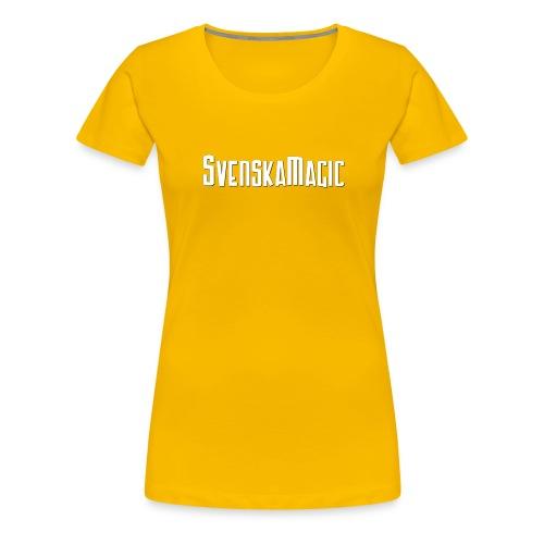 svmlogo vit - Premium-T-shirt dam