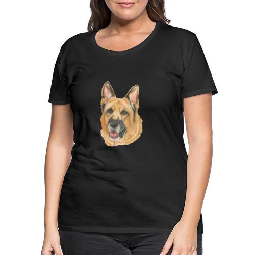 german shepherd color - Dame premium T-shirt
