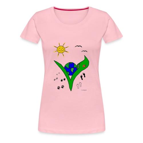 Ein Logo geht um die Welt - Frauen Premium T-Shirt