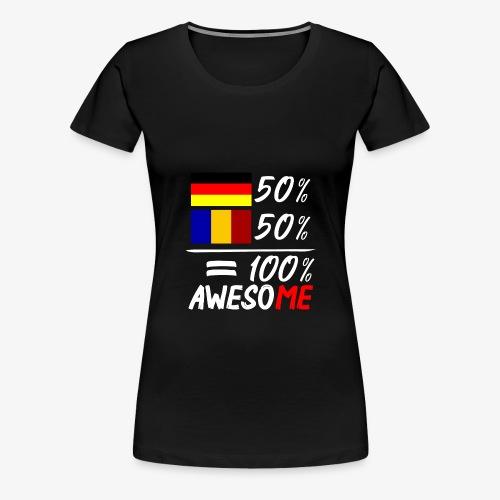 50% Deutsch 50% Rumänisch - Frauen Premium T-Shirt