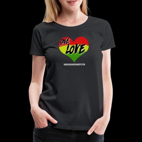 ONE LOVE - HEART - Frauen Premium T-Shirt