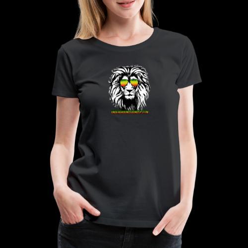 RASTA REGGAE LION - Frauen Premium T-Shirt