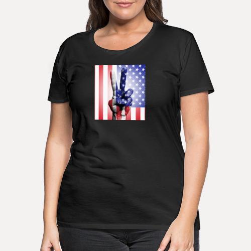 Stars Stripes & Peace - Women's Premium T-Shirt
