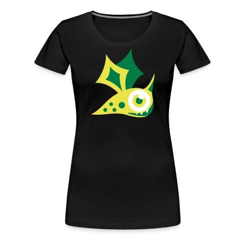Monster grün - Frauen Premium T-Shirt