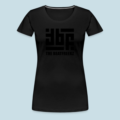 the beatfreekz logo 3 black - Women's Premium T-Shirt
