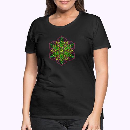 Flor de loto de fuego - Camiseta premium mujer