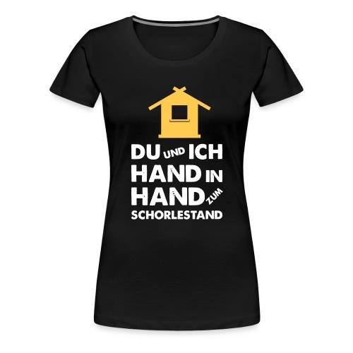 Hand in Hand zum Schorlestand / Gruppenshirt - Frauen Premium T-Shirt