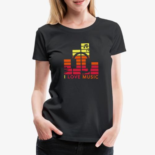 I love music Illustration Gig Band Musik Godigart - Frauen Premium T-Shirt