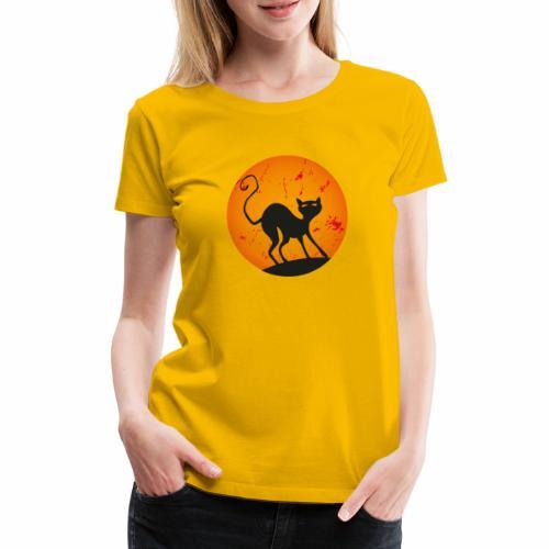 LA LUNA E IL GATTO 3 - THE CAT AND MOON 3 - Maglietta Premium da donna