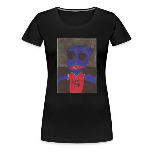 Alien super star en amour - T-shirt Premium Femme