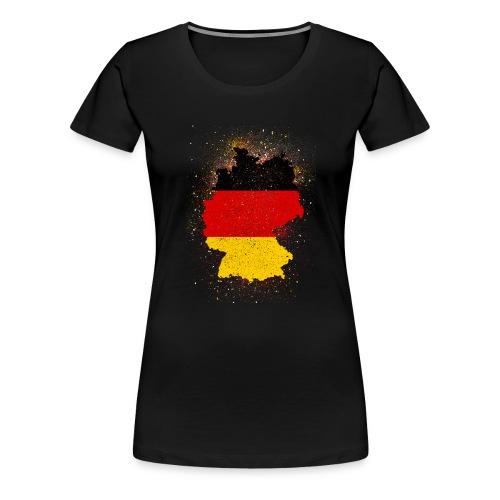 Deutschland Abstract - Frauen Premium T-Shirt