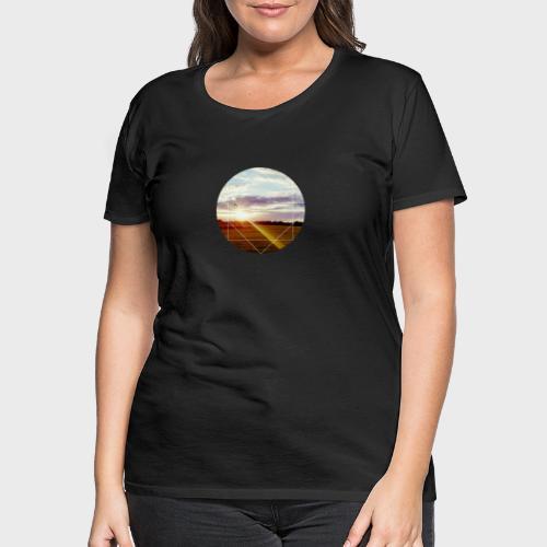 Sonnenuntergang am Platz - Frauen Premium T-Shirt