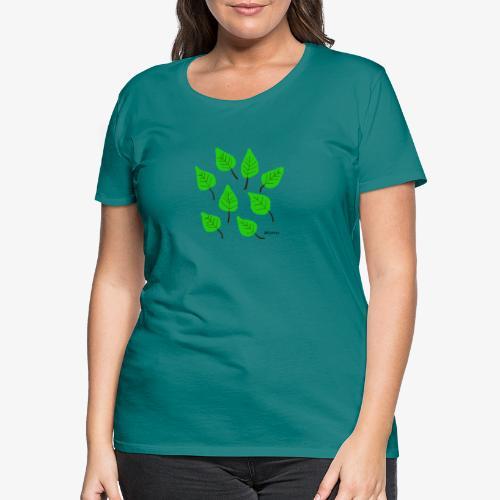 Lehdet - Naisten premium t-paita