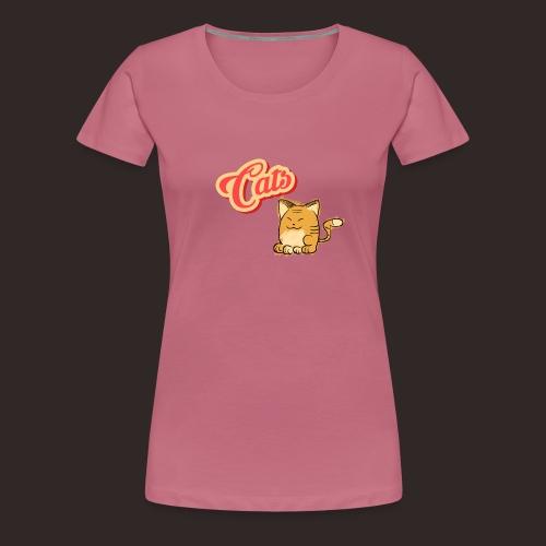 Katze | Katzen süß Schriftzug - Frauen Premium T-Shirt
