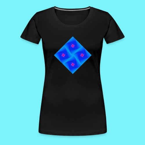 Curves of pursuit design 2 - Women's Premium T-Shirt