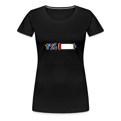 1% - Camiseta premium mujer