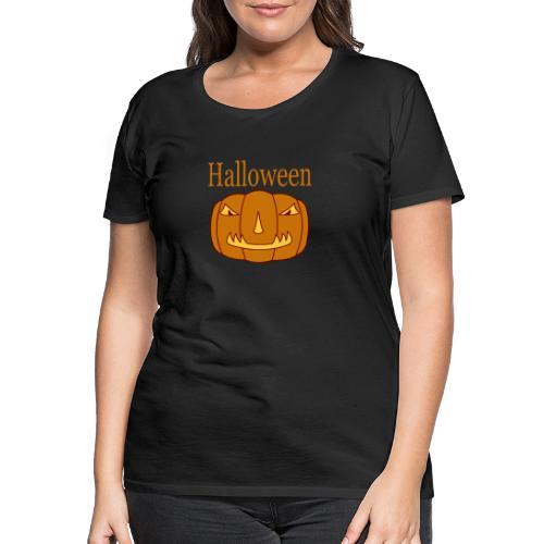 Halloween Kürbis mit Gruselmaske - Frauen Premium T-Shirt