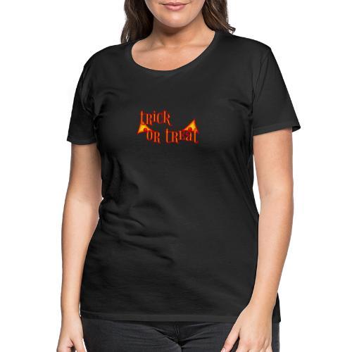 Halloween trick or treat mit gruseligen Augen - Frauen Premium T-Shirt