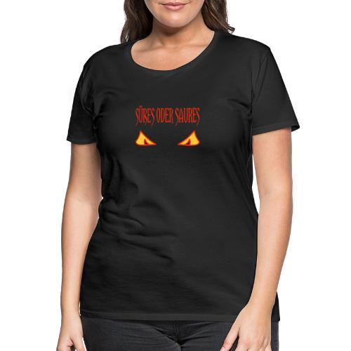 Halloween Süßes oder Saures mit Gruselaugen - Frauen Premium T-Shirt