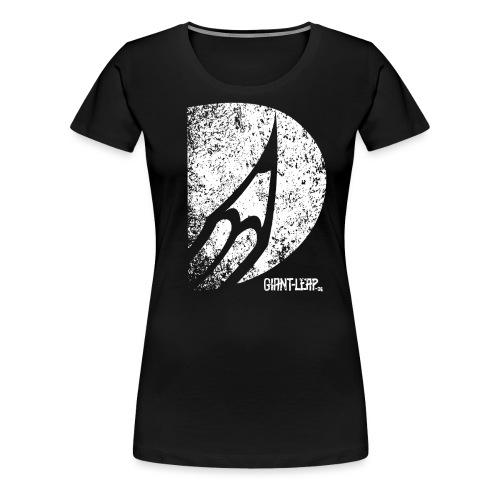 bleistift grunge weiss - Frauen Premium T-Shirt