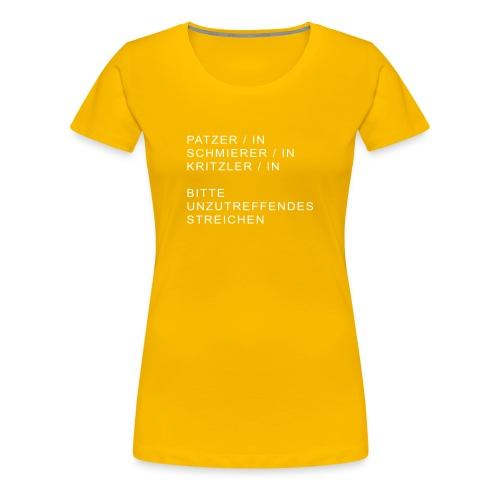 kunst patzerin - Frauen Premium T-Shirt