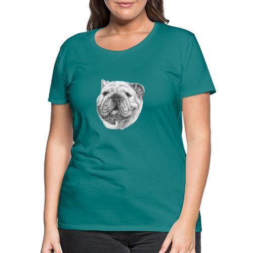 EngelskBulldog M - Dame premium T-shirt