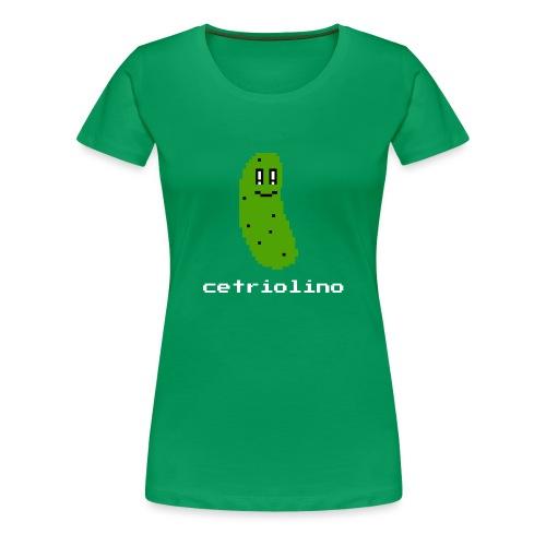 8-bit Pickle (Dark T-Shirt) - Maglietta Premium da donna