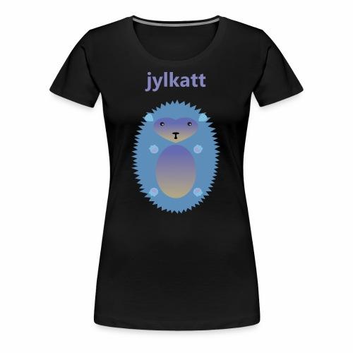 Blå Jylkatt Bornholmsk ord - Dame premium T-shirt